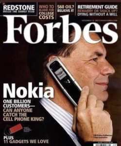nokia fastest decline bad strategy